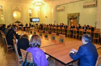 Представители компании ТЕХНОМИР встретились с депутатом Государственной Думы в Санкт-Петербургской торгово-промышленной палате.